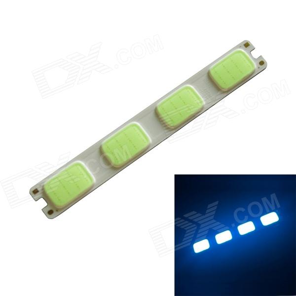 3W 190lm 465nm 48-COB LED Ice Blue Light Module - White + Light Green (DC 12V)