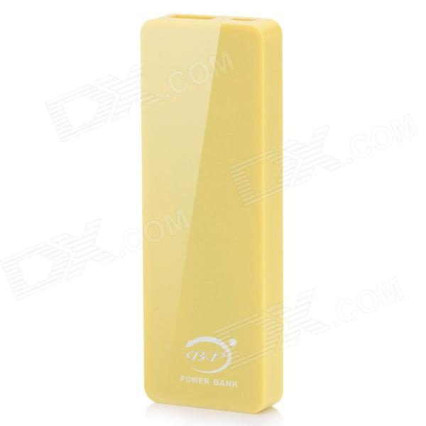 BP 4000mAh Ultra-thin Li-polymer Mobile Power Source for IPHONE 6 / 5S / Samsung - Yellow polymer lithium battery 11000mah 3 7v ultra large capacity mobile power charging treasure a core li ion cell
