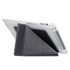 ENKAY Protective PU + TPU Smart Cover Case w/ Stand for IPAD 2 / 3 / 4 - Black
