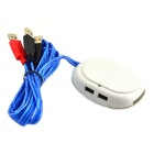 Jtron HDMI Desktop Power Button Switch Module w/ Dual USB for PC - White + Black