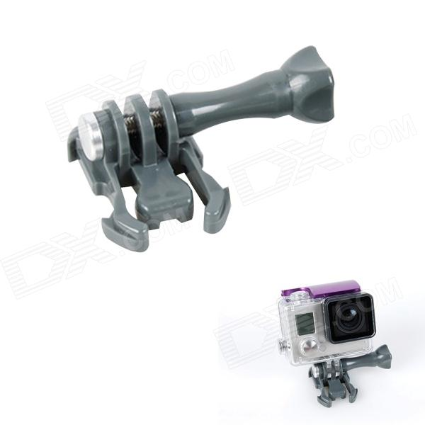 BZ J-Shape Fast Assembling Mount Buckle w/ Screw for GoPro Hero 2 / 3 / 3+ - Grey