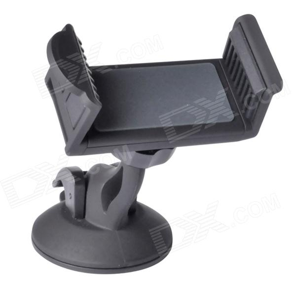 lf07 Car Mount Holder w/ Suction Cup for IPHONE / Samsung / Sony / HTC / LG - Black sunshine car mount holder stand w suction cup for samsung galaxy s5 black
