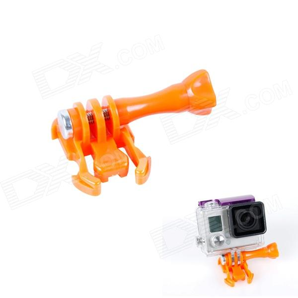 BZ J-Shape Fast Assembling Mount Buckle w/ Screw for GoPro Hero 2 / 3 / 3+ - Orange