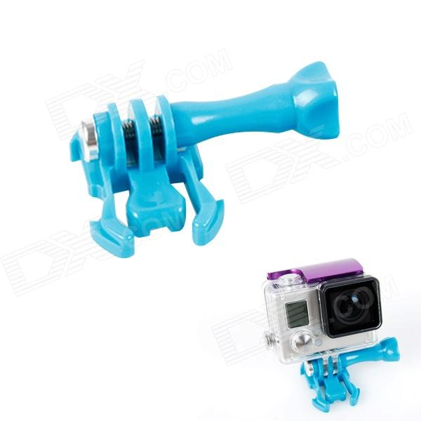 BZ J-Shape Fast Assembling Mount Buckle w/ Screw for GoPro Hero 2 / 3 / 3+ - Blue