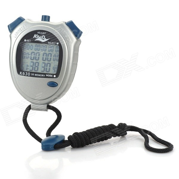 "1.5"" LCD Sports Stopwatch with Calendar Display (2*CR2032)"