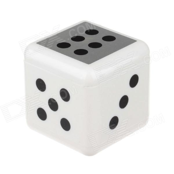 Fashionable Portable Dice Shape Ashtray - White + Black ashtray