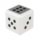 Fashionable Portable Dice Shape Ashtray - White + Black