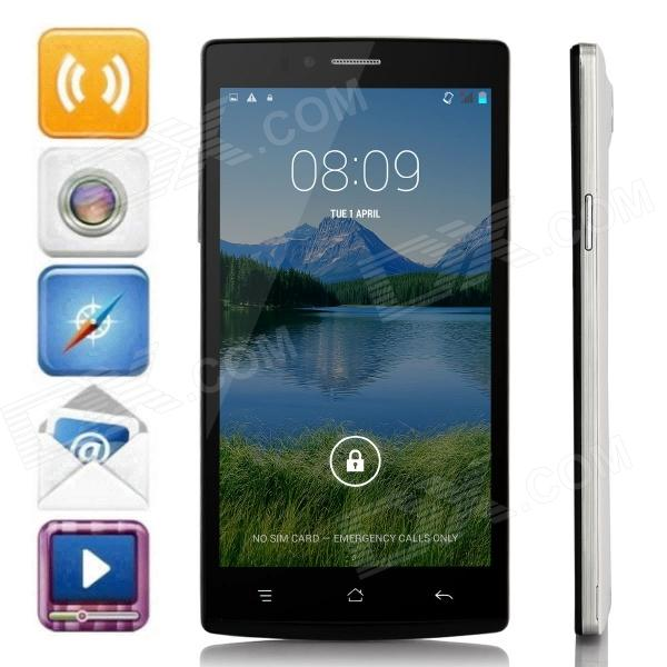 JK-740 MTK6592 Octa-Core Android 4.4.2 WCDMA Bar Phone w/ 5.5 HD, 8GB ROM, FM, GPS - White + Black bluboo x2 octa core android 4 2 bar phone w 5 0 hd gps wi fi fm bluetooth and rom 16gb black