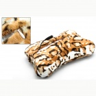 Uneed BK-0023 bein Conduction Bluetooth stereoplaten Hi-Fi håndfrisett bil MP3 spilleren Pillow - Leopard Print