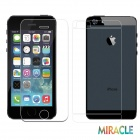 MO.MAT Miracle Pro201D 0.2mm Tempered Glass Screen + Back Protector Set for IPHONE 5 / 5C / 5S