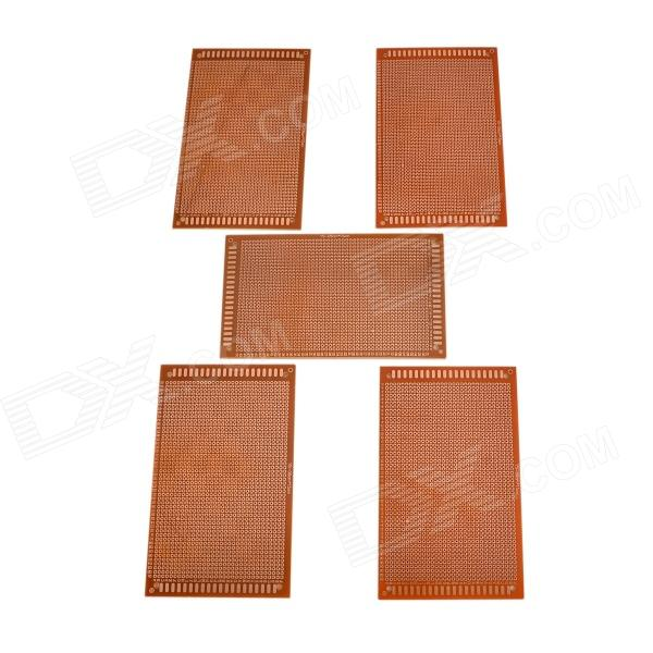 9cm x 15cm Universal PCB Punching Hole Test Boards - Brown (5 PCS)  pcb79 1 2mm 7 x 9cm bakelite pcb circuit boards dark orange 5 pcs