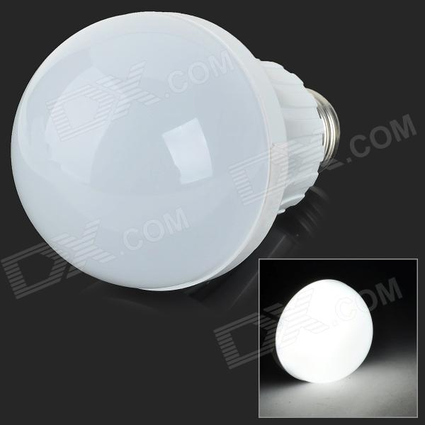 E27 7W 600lm 6500K 22-SMD 2835 LED White Light Bulb - White + Silvery Grey (AC 220~240V)