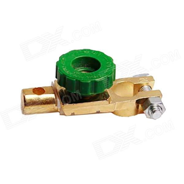 Electric Leakage Protection Car Battery Quick Cut Off Disconnect Switch - Green + Golden