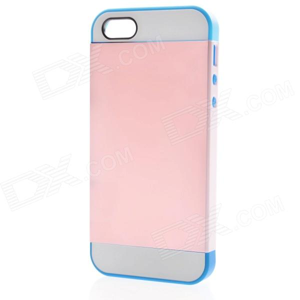 Link Dream Protective TPU + PC Back Case for IPHONE 5 / 5S - Pink + Dark Blue protective pc tpu back case for iphone 5 w anti dust cover lavender purple