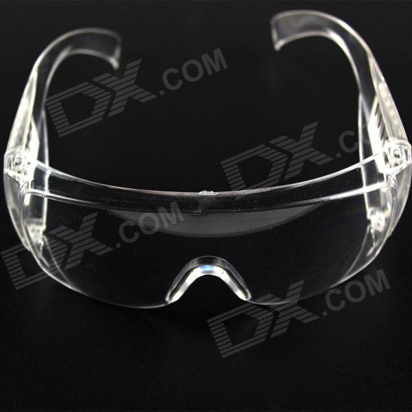 Stylish PVC Frame PVC Lens UV400 Protection Sport Goggles - Transparent