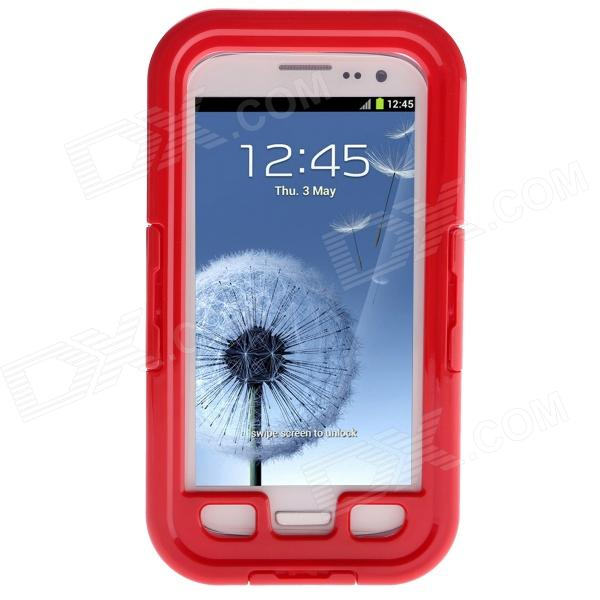 Waterproof Shockproof Snowproof PC + Silicone Case for Samsung Galaxy S3 i9300 - Red pannovo silicone shockproof fallproof dustproof case for samsung galaxy note 3 camouflage green
