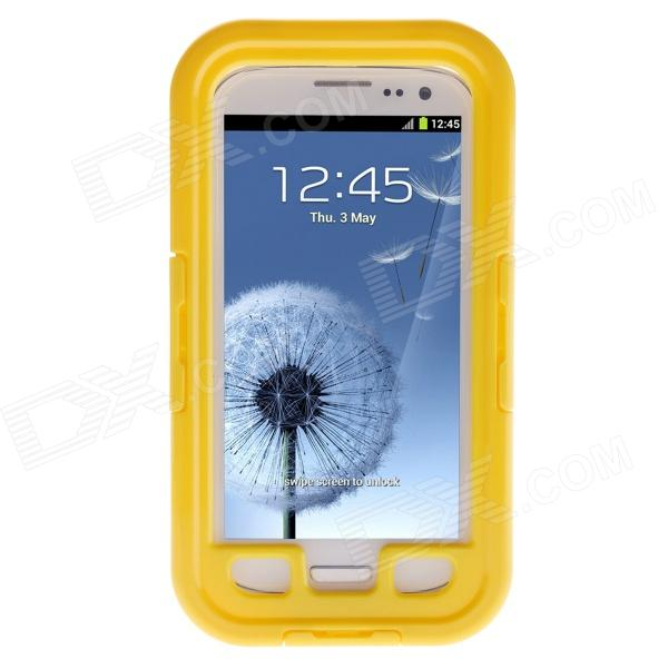 Waterproof Shockproof Snowproof PC + Silicone Case for Samsung Galaxy S3 i9300 - Yellow pannovo silicone shockproof fallproof dustproof case for samsung galaxy note 3 camouflage green