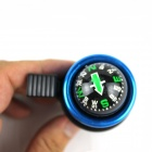 Bicycle Bell w/ Compass - Black + Blue (2 PCS)