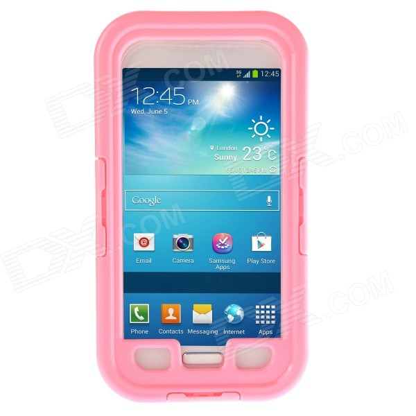 Waterproof Shockproof Snowproof PC + Silicone Case for Samsung Galaxy S4 i9500 - Pink pannovo silicone shockproof fallproof dustproof case for samsung galaxy note 3 camouflage green