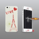 Angibabe Embossed  Eiffel Tower Pattern Front and Back Screen Protector for IPHONE 5 / 5S