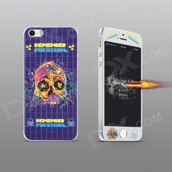 Angibabe Embossed Big Skull Pattern Front and Back Protectors Set for IPHONE 5 / 5S стоимость