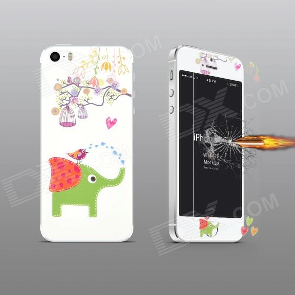 Angibabe Embossed Elephant Pattern Front and Back Screen Protector for IPHONE 5 / 5S стоимость