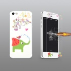 Angibabe Embossed Elephant Pattern Front and Back Screen Protector for IPHONE 5 / 5S
