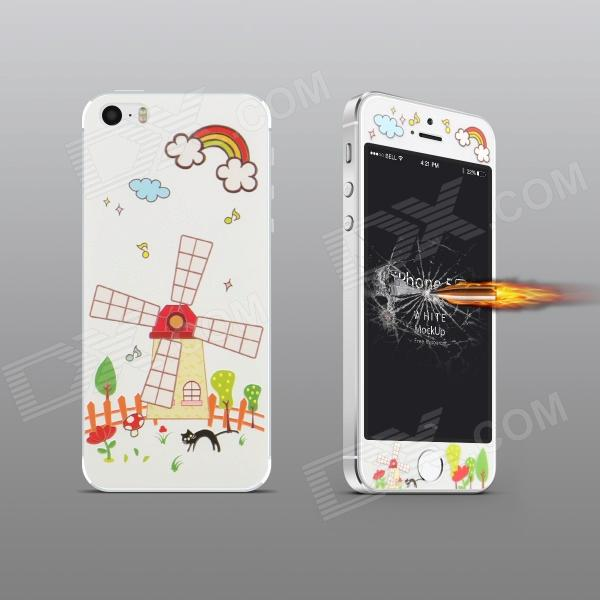 Angibabe Embossed Windmill Pattern Front and Back Protector Set for IPHONE 5 / 5S стоимость
