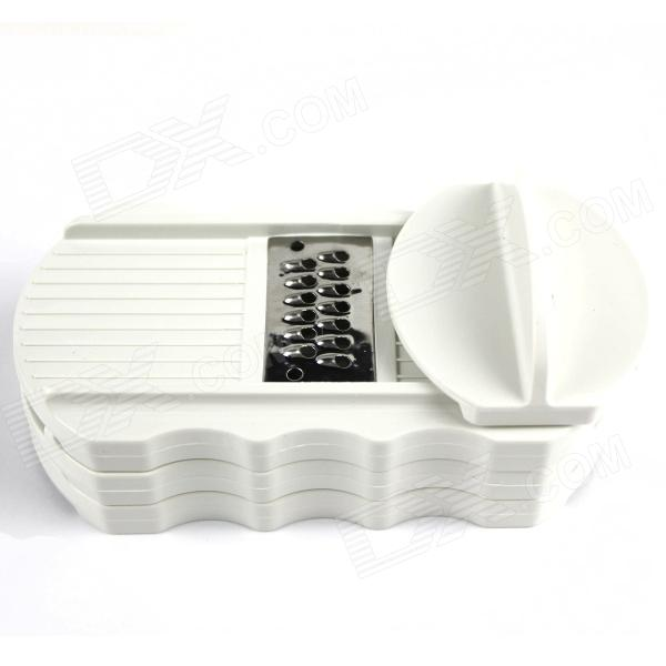 Multi-functional Portable Handheld Graters + Extruder Set - White + Translucent Green