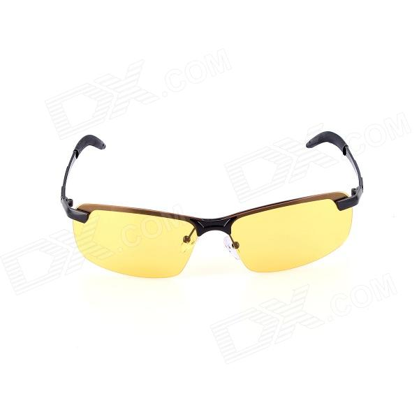 SYS0042 Copper Alloy Frame TAC Lens UV400 Night Vision / Polarized Sunglasses - Black bask back country light