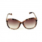SYS0046 Women's Fashionable PC Frame Resin Lens UV400 Sunglasses - Leopard Black