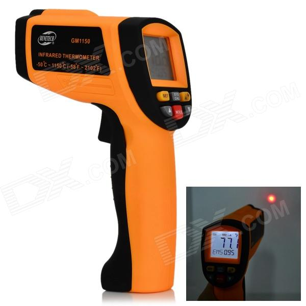 BENETECH GM1150 Infrared Temperature Tester Thermometer - Orange + Black (9V) benetech gm320 1 2 lcd infrared temperature tester thermometer orange black 2 x aaa