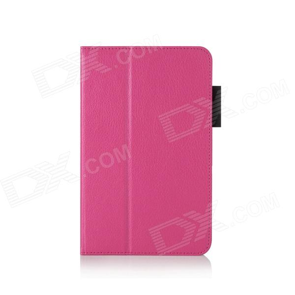 HighPro Protective PU Leather Case w/ Handle Strap for LG G Pad 7.0'' V400 - Deep Pink