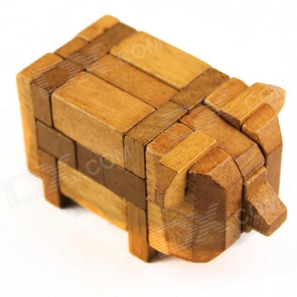 Educational Unlock Pig Puzzle Toy - Wood