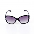 SYS0047 Women's Fashion PC Frame Resin Lens UV400 Protection Sunglasses - Black
