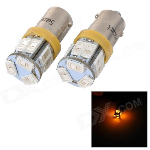 SENCART BA9S 3W 10lm 590nm 5730 SMD LED Yellow Light Car / Motorcycle Lamp (DC 12~16V / 2PCS)