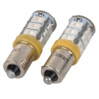 SENCART BA9S 3W 10LM 590nm 5730 Car Light LED SMD Amarelo / Moto lâmpada (DC 12 ~ 16V / 2PCS)