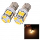 SENCART BA9S 3W 70lm 3500K 5730 SMD LED Warm White Light Car / Motorcycle Lamp (DC 12~16V / 2PCS)