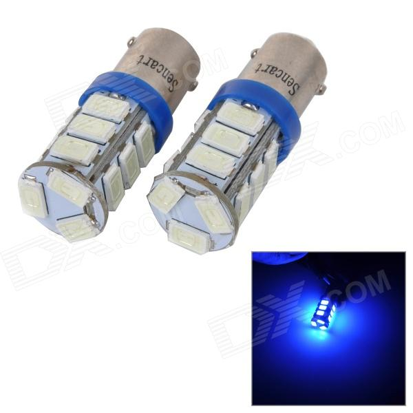 SENCART BA9S 4W 40lm 490nm 5730 SMD LED Blue Light Car / Motorcycle Lamp (DC 12~16V / 2PCS) sencart sv8 5 8 1w 40lm 9500k 5730 smd led cool white light car roof reading lamp 2pcs dc12 16v