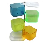 Creative Rotating Ladder Seasoning Box - White + Green