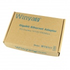 Winyao WY8111E PCI-E X1 Gigabit Ethernet LAN Network Card - Green