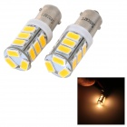 SENCART BA9S 4W 130lm 3500K 5730 SMD LED Warm White Light Car / Motorcycle Lamp (DC 12~16V / 2PCS)