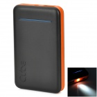Cube E04A 4500mAh Li-polymer Battery Mobile Power Bank - Black + Orange
