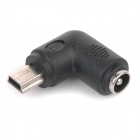 WB-0817 DC 5.5 x 2.1 Male to Mini 5-Pin USB Male Charging Adapter - Black