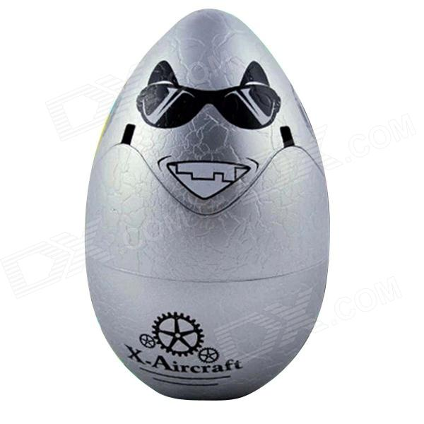Remote Control Toys 2.4GHz 4-CH 3D Stunt Flying R/C Egg - Gray