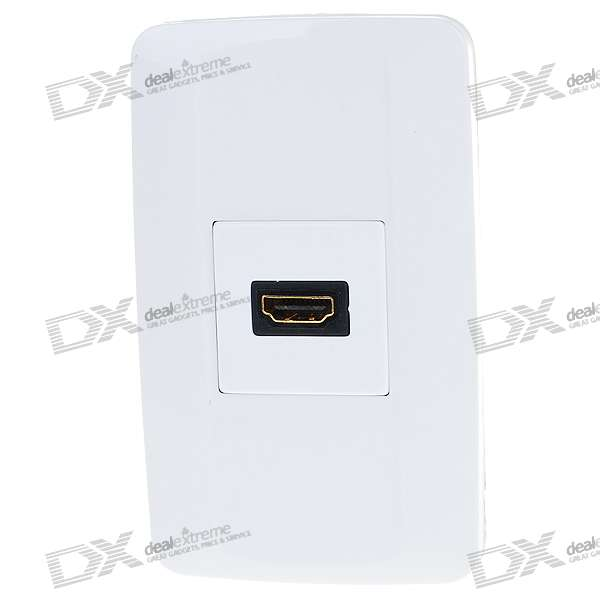 Hi-Def HDMI Wall Plate / Wall Outlet (Type A 19-Pin Connector) hi def hdmi component video wall plate wall outlet type a 19 pin connector