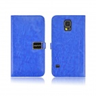 Angibabe PU Leather Case with Card Slots for Samsung Galaxy S5 - Dark Blue
