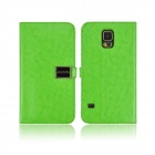 Angibabe PU Leather Case with Card Slots for Samsung  Galaxy S5 - Green
