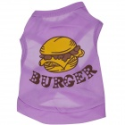 LB-B008 Delicious Hamburger Patterned Dacron Vest for Pet Cat / Dog - Purple (Size S)