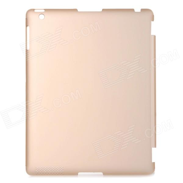 Protective Plastic Back Case Cover for IPAD 2 / 3 / 4 - Golden
